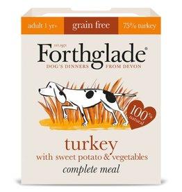 Forthglade Complete Grain Free Turkey, Sweet Potato & Veg Adult Wet Dog Food, 395g