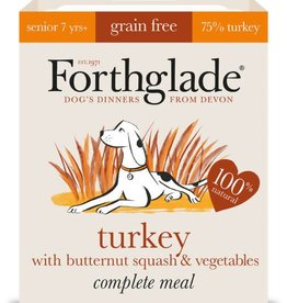 Forthglade Complete Senior Turkey with Butternut Squash & Veg Grain Free Wet Dog Food 395g