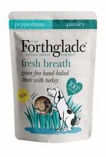 Forthglade Fresh Breath Grain Free Hand Baked Dog Treats with Turkey, 150g