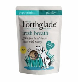 Forthglade Grain Free Hand Made Breath Fresh Dog Treats with Turkey 150g