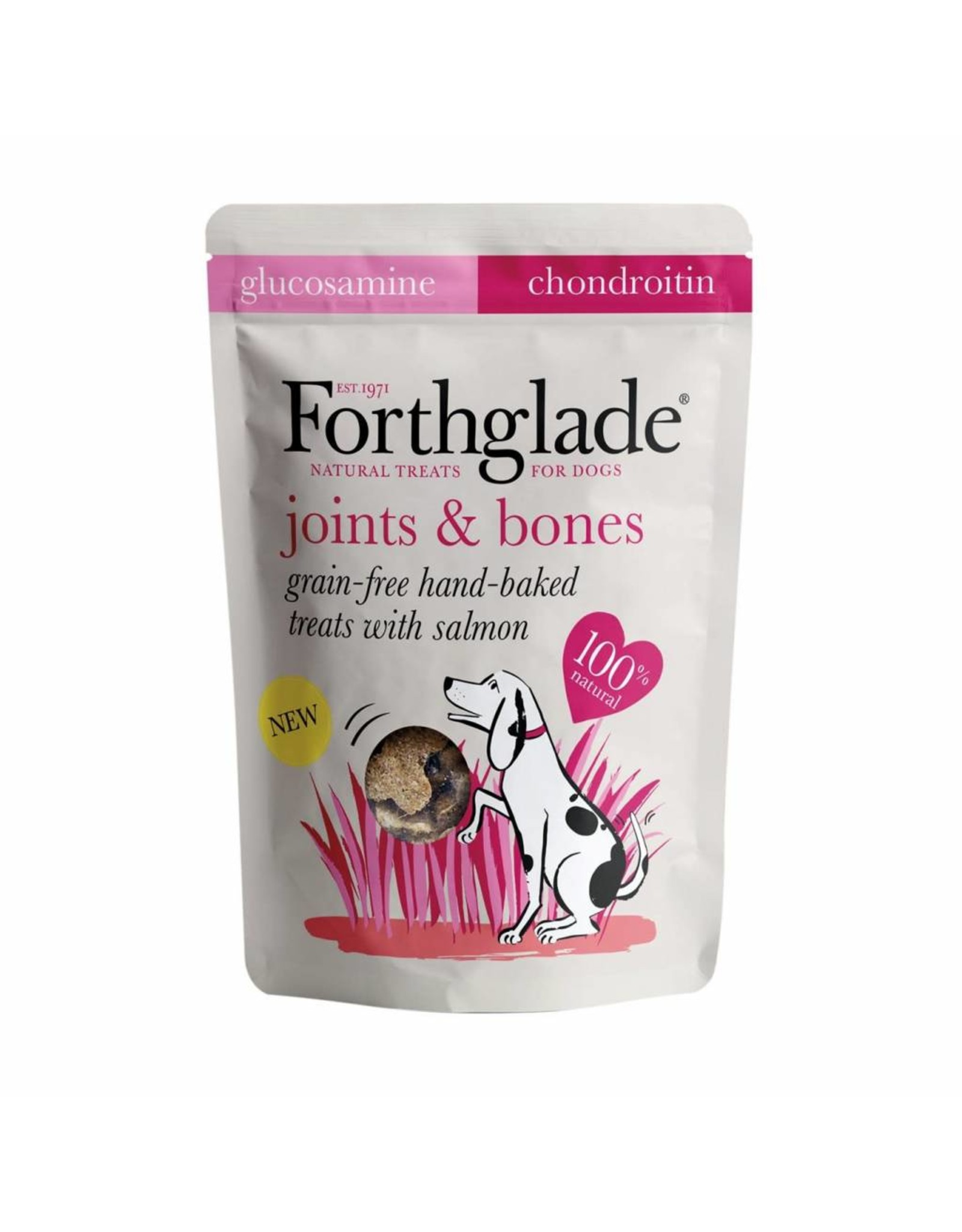Forthglade Joint & Bones Grain Free Hand Baked Dog Treats with Salmon, 150g