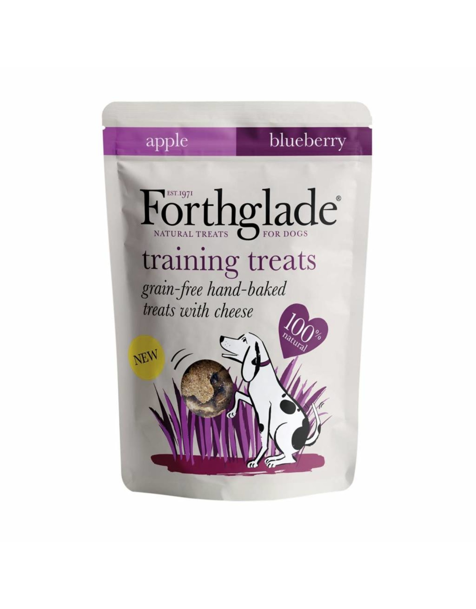 Forthglade Training Treats Grain Free Hand Baked Dog Treats with Cheese, 150g