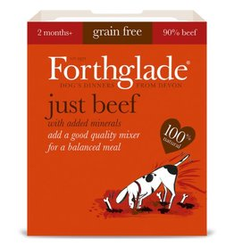 Forthglade Just Beef Grain Free 2 Months + Wet Dog Food, 395g