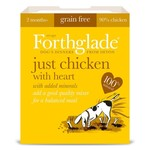 Forthglade Just Chicken with Heart Grain Free 2 Months + Wet Dog Food, 395g