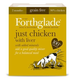 Forthglade Just Chicken with Liver Grain Free 2 Months + Wet Dog Food, 395g