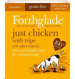 Forthglade Just Chicken with Tripe Grain Free 2 Months + Wet Dog Food, 395g