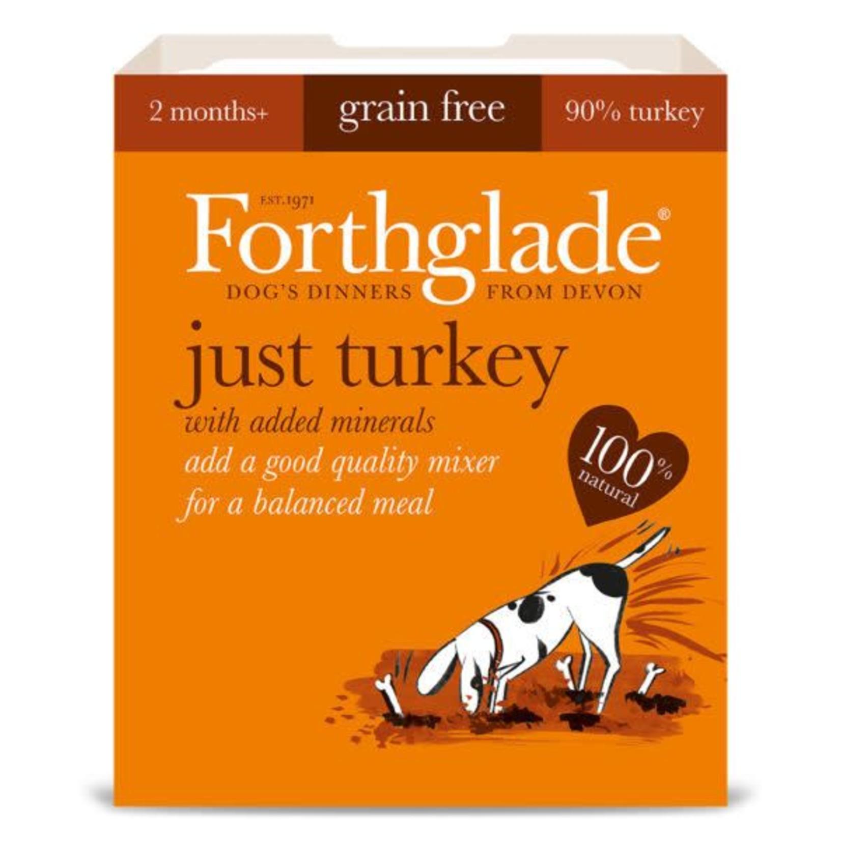 Forthglade Just Turkey Grain Free 2 Months + Wet Dog Food, 395g