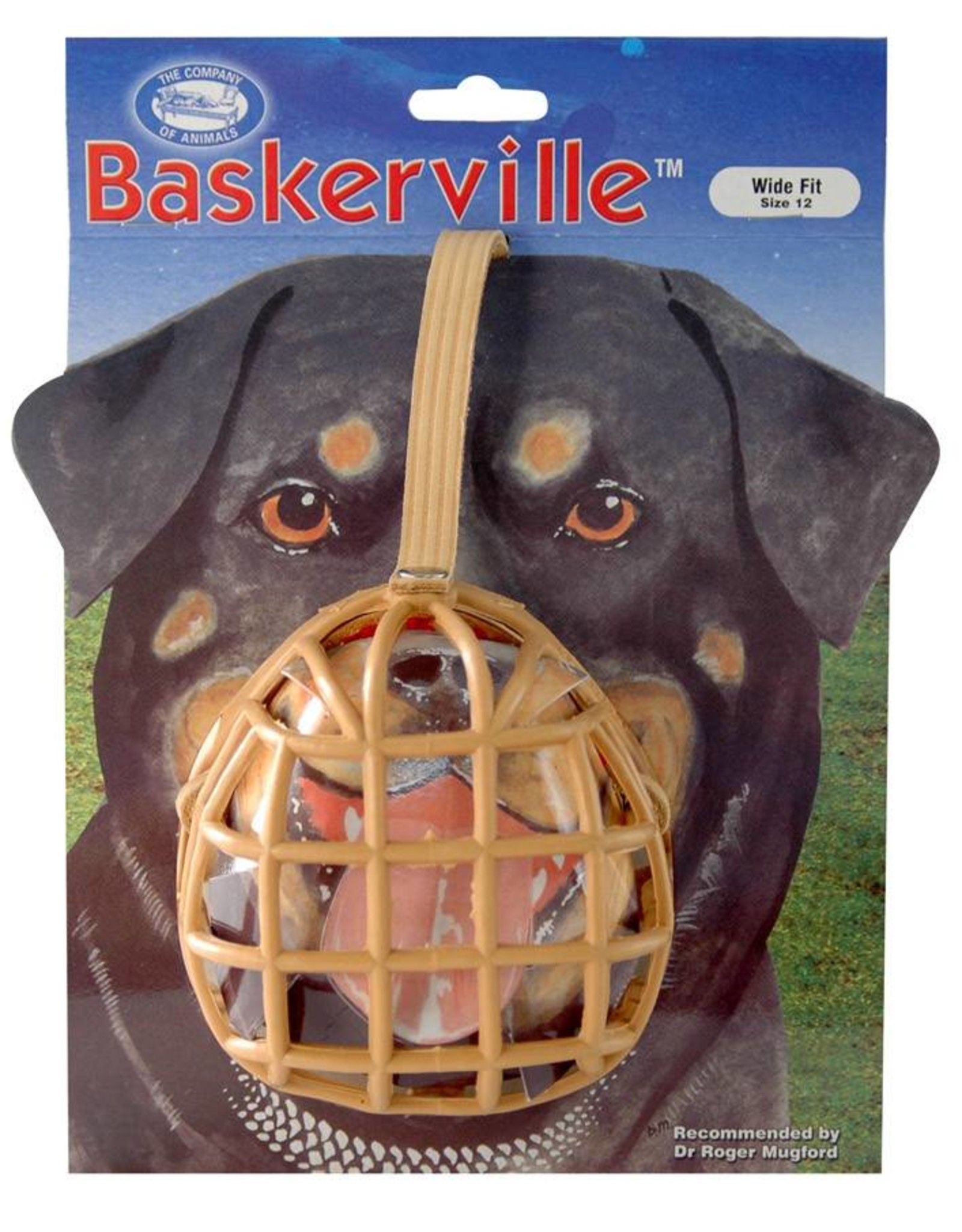 Company of Animals Baskerville Dog Muzzle Size 12, Staff Bull Terrier