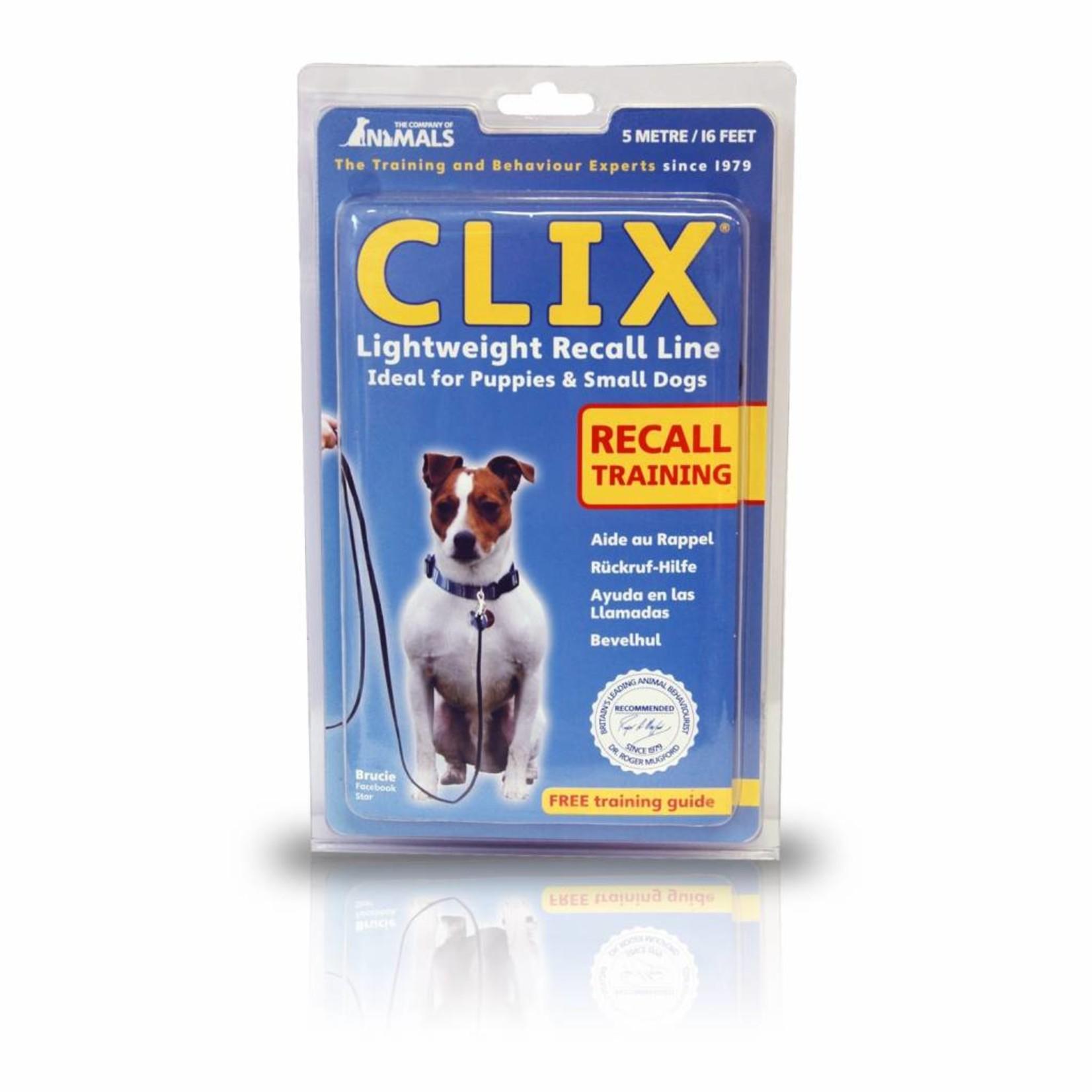 Company of Animals Clix Dog Lightweight Recall Line, 5m