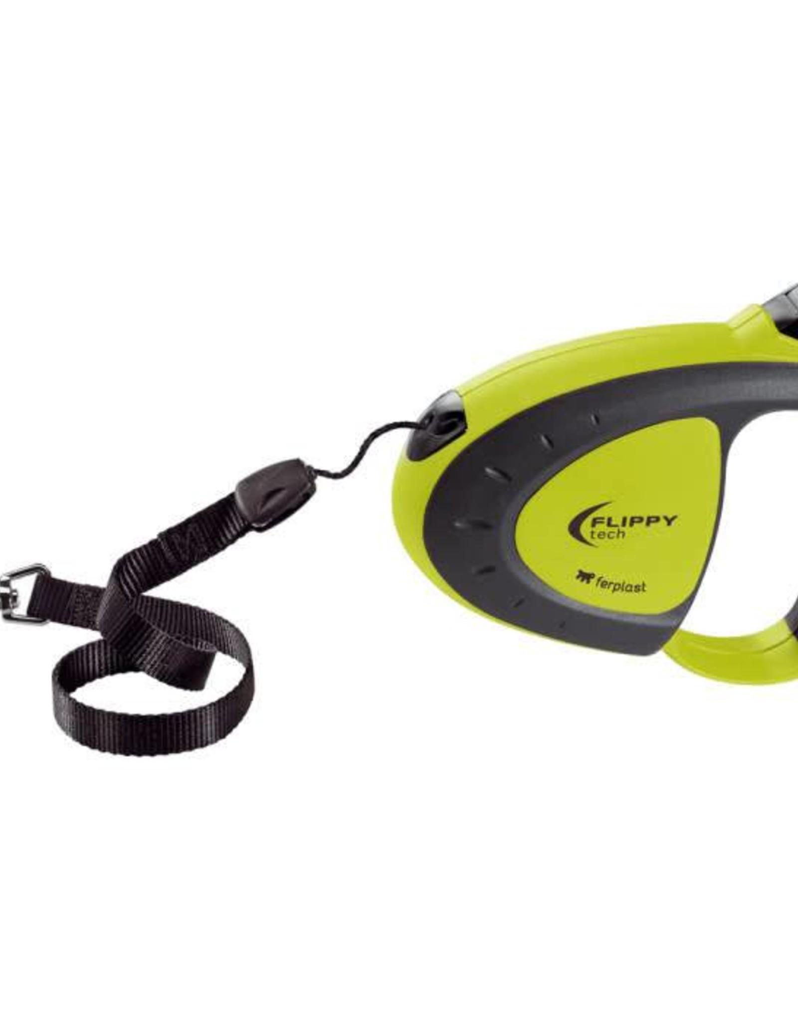 Ferplast Flippy Tech Retractable Cord Dog Lead, Small