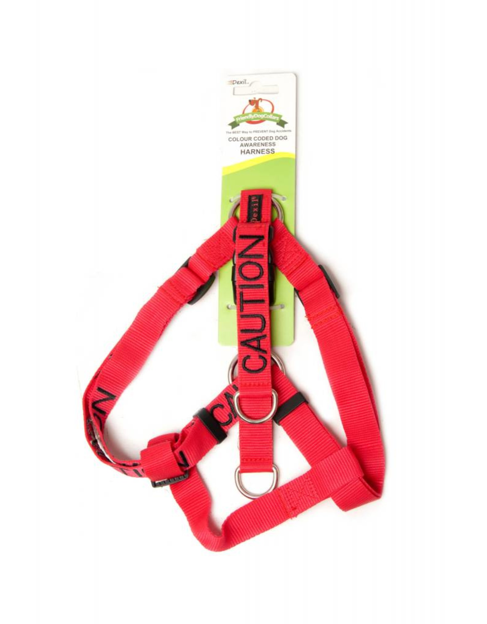 """Friendly Dog Collars """"Caution"""" Strap Dog Harness *CLEARANCE"""