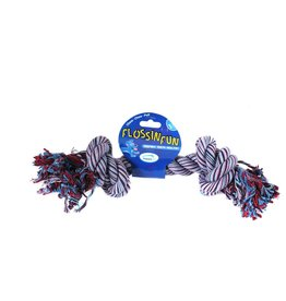 Happy Pet Flossin Fun Rope 2 Knot Super Size Dog Toy