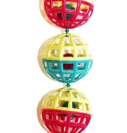 Happy Pet Fun At The Fair Bird Toy Multi Ball Toy