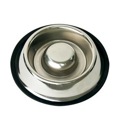 Happy Pet Stainless Steel Slow Feed Pet Bowl, 18cm, 650ml