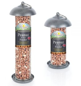 Harrisons Mini Peanut/Suet Feeder Silver/Grey Hammertone 20cm