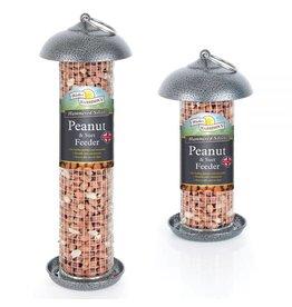 Harrisons Mini Peanut/Suet Feeder Silver/Grey Hammertone 20cm