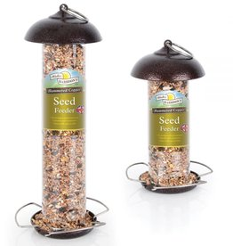 Harrisons Hammered Copper Seed Bird Feeder, 30cm