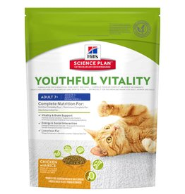 Hill's Science Plan Feline Adult 7+ Youthful Vitality Chicken & Rice Dry Cat Food