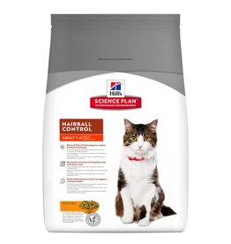 Hill's Science Plan Feline Adult Hairball Control Chicken Dry Cat Food