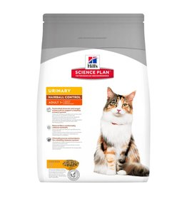Hill's Science Plan Feline Adult Urinary Care Hairball Control Dry Cat Food 1.5kg