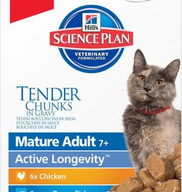 Hill's Science Plan Mature Adult 7+ Cat Wet Food Pouch,  Gravy Multipack 12 x 85g