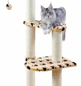 Trixie Altea scratching post, 117 cm, beige with paw prints