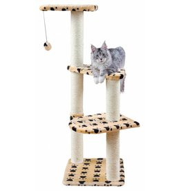 Trixie Altea Cat Scratching Post, Beige with Paw Prints, 117cm