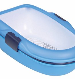 Trixie Berto cat litter tray, 39 x 22 x 59 cm, light blue/dark blue/granite