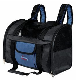 Trixie Connor backpack & carrier, nylon, 42 x 29 x 21cm, black/blue