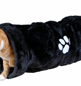 Trixie Playing Cat Tunnel Plush 22 x 60cm Anthracite