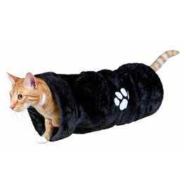 Trixie Playing Plush Cat Tunnel, Anthracite, 22 x 60cm