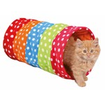 Trixie Playing Fleece Cat Tunnel, 25 x 50cm, Mulit-Coloured