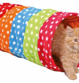 Trixie Playing Cat Tunnel, Fleece 25 x 50 cm Mulit-Coloured