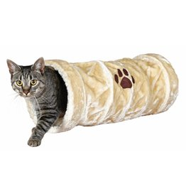 Trixie Playing Plush Cat Tunnel, Beige, 22 x 60cm
