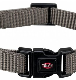 Trixie Premium Adjustable Nylon Dog Collar, Grey