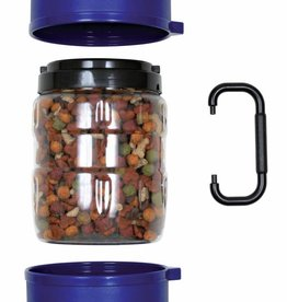Trixie Dog Food & Drink Travel Set, 2 litre storage with 2 x 0.75 litre bowls