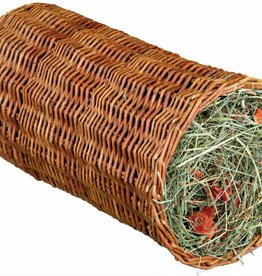 Trixie Wicker Tunnel with Hay for Rabbits & Small Animals, 20 x 38cm, 220g