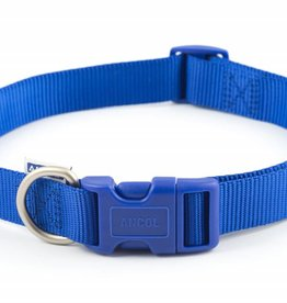 Ancol Adjustable Nylon Blue Dog Collar