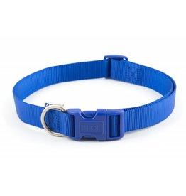 Ancol Adjustable Nylon Blue Dog Collar