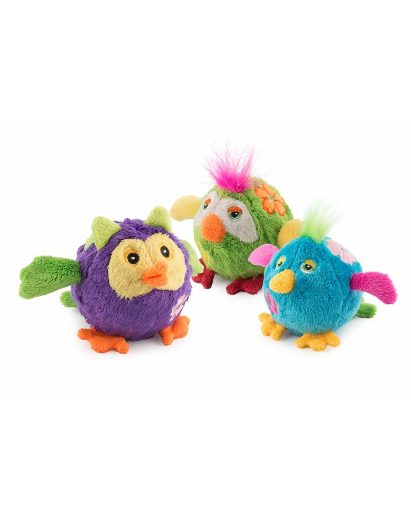 Ancol Bouncing Flower Birds Small Dog Toys