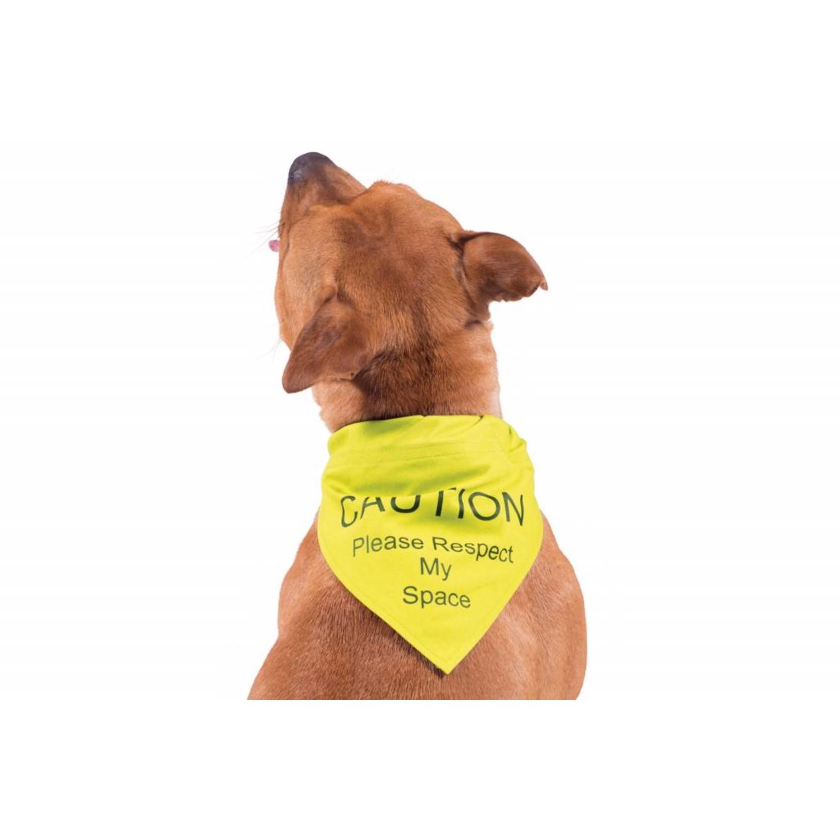 Ancol Dog Warning Bandana, Yellow - Respect My Space