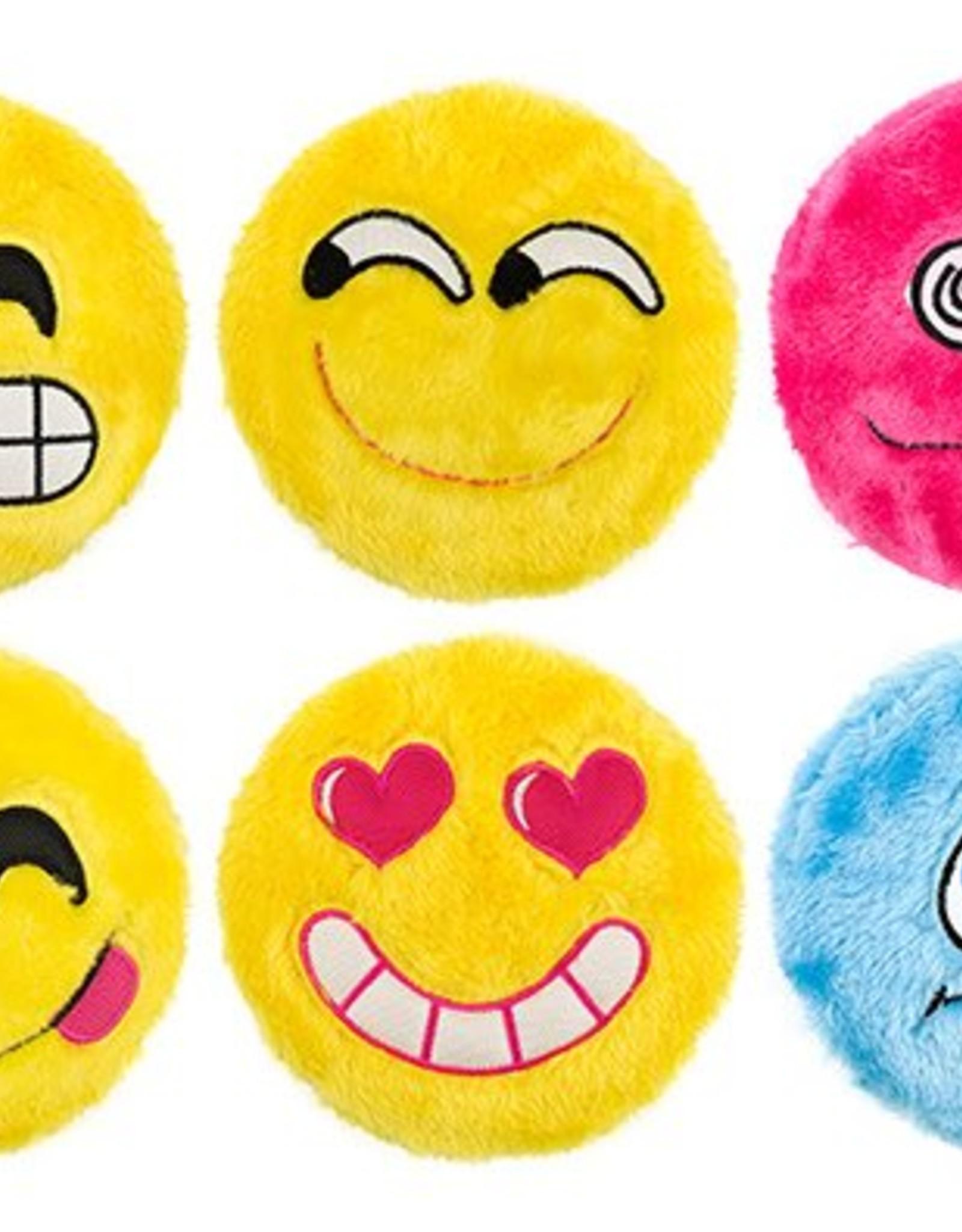 Ancol Emoji Flingers Squeak Plush Dog Toy