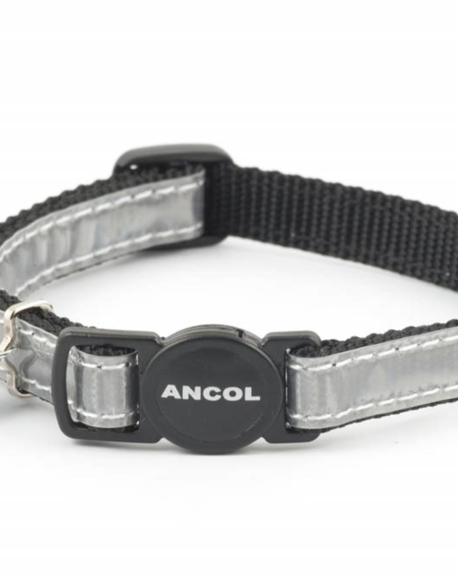 Ancol Gloss Reflective Cat Collar, Silver