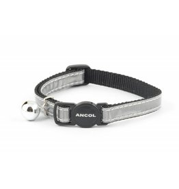 Ancol Gloss Reflective Cat Collar, Silver