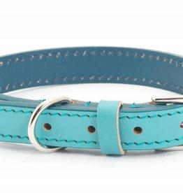 Ancol Heritage Indulgence Leather Dog Collar, Aqua (Blue/Green)