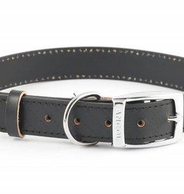 Ancol Heritage Leather Diamond Dog Collar, Black