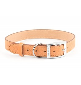 Ancol Heritage Leather Diamond Dog Collar, Tan