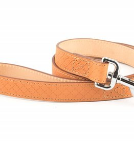 Ancol Heritage Leather Diamond Dog Lead 1m x 25mm, Tan
