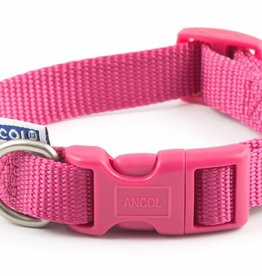 Ancol Adjustable Nylon Raspberry Dog Collar