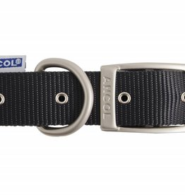 Ancol Heritage Nylon Dog Collar, Black